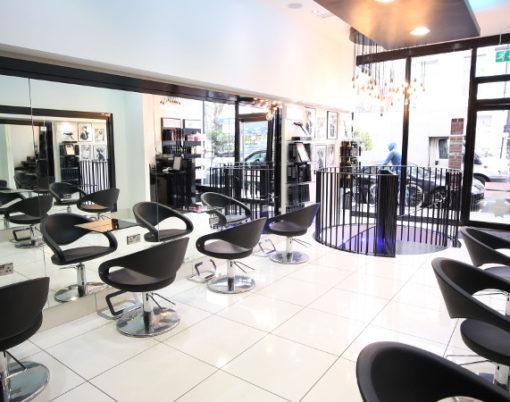 Jamie Stevens' hair salon in Kensington