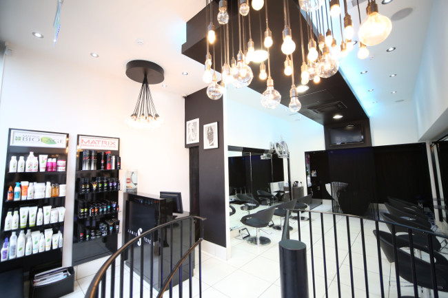 Jamie Stevens' hair salon in Kensington