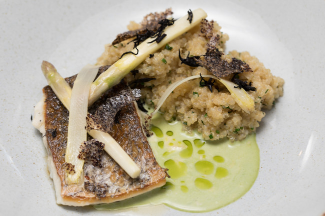 Grafene serves an incredible crispy stone bass dish