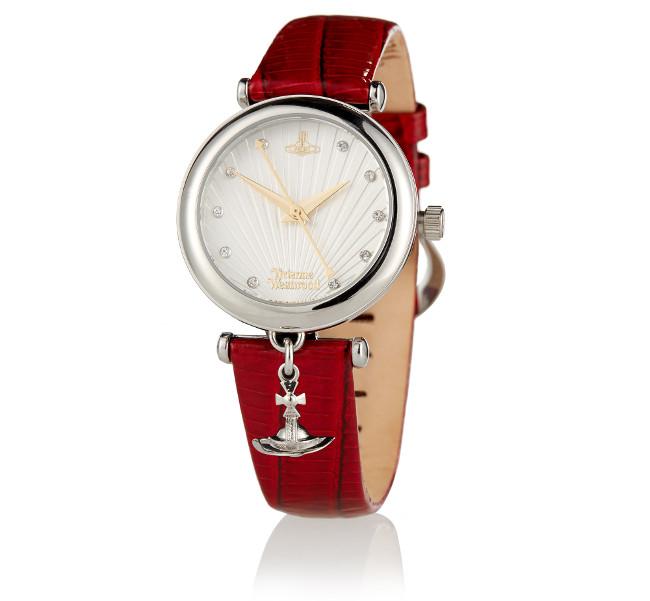Vivienne Westwood Red Trafalgar Watch Front