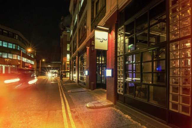 Exterior of Union Street Cafe at Night