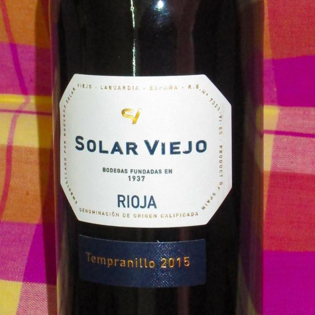 SOLAR VIEJO RIOJA TEMPRANILLO - SPAIN