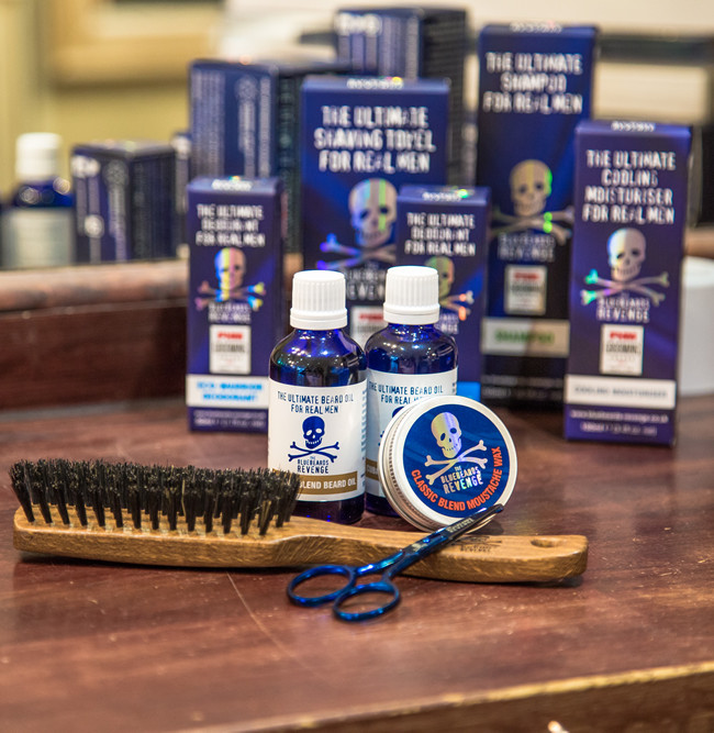 beard grooming products from the bluebeards revenge