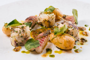 Jersey Royal, Smoked Eel, and Nasturtium Salad Recipe - Steve Smith at Bohemia (2)
