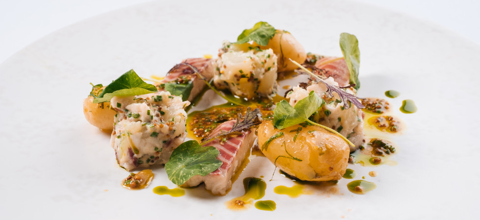 Jersey Royal, Smoked Eel, and Nasturtium Salad Recipe - Steve Smith at Bohemia (2)