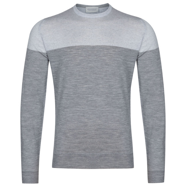 John Smedley Chaldon Pullover In Silver - £150