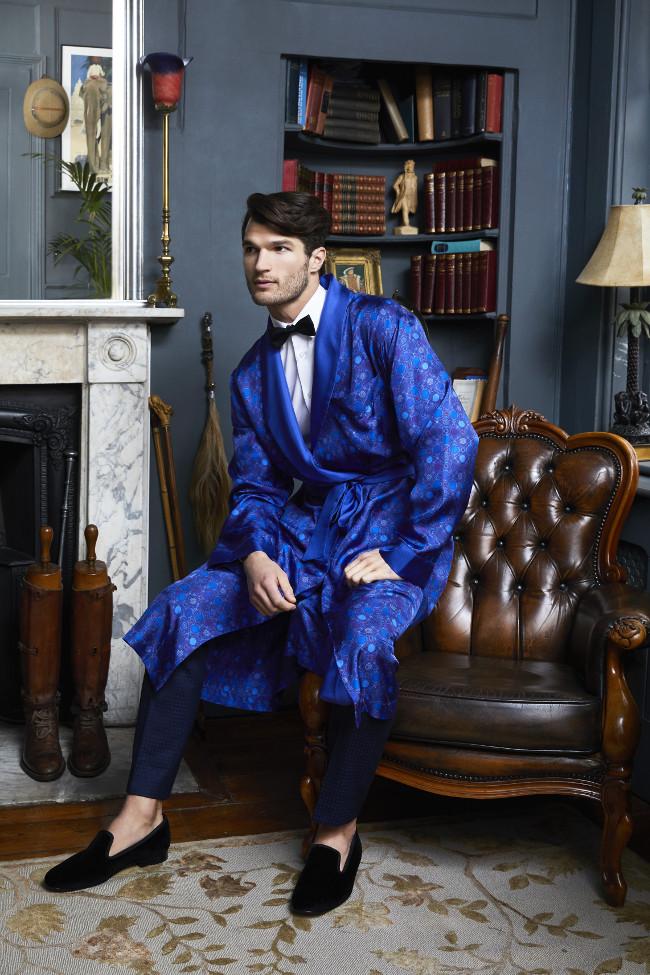 Saxon Blue Dressing Gown - £750 - www.geoffstocker.com