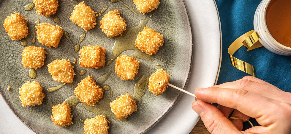 Halloumi Sesame Bites