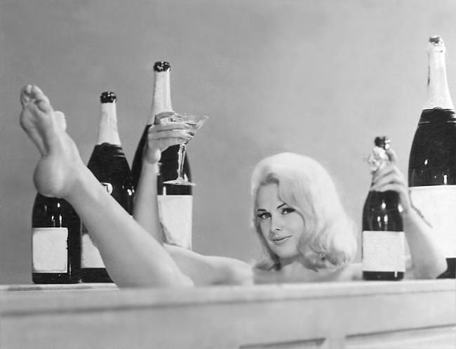prosecco woman in bathtub blog