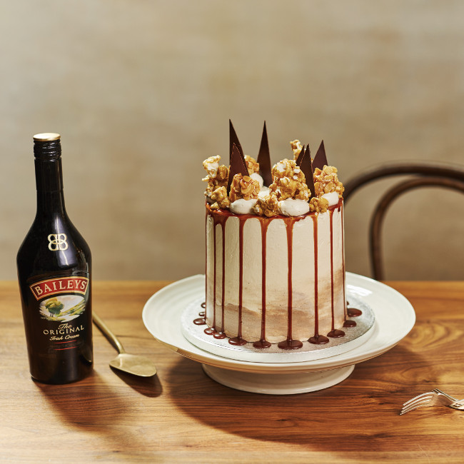Lily Vanilli's Baileys Showstopper Salted Caramel Cake