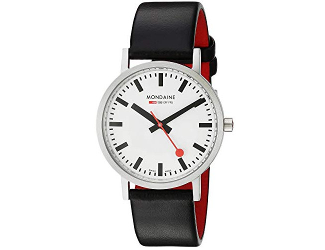 Mondaine A660 SBB Quartz Classic Leather Band Watch