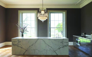 Statuary Marble Kitchen Island & Tops (4)