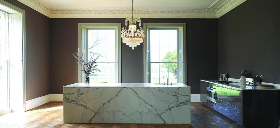 Statuary Marble Kitchen Island & Tops (4)