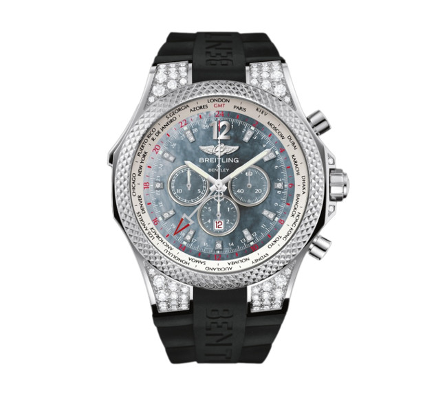 Bentley GMT Midnight Carbon J4736267/BC55/222S/J20DNRH.3.01 White Gold & Diamonds Watch