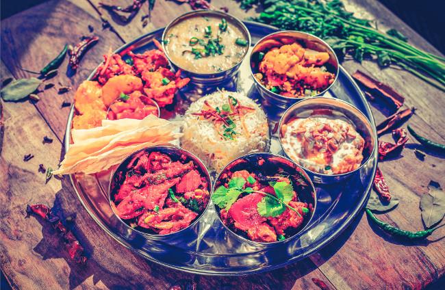 India thali