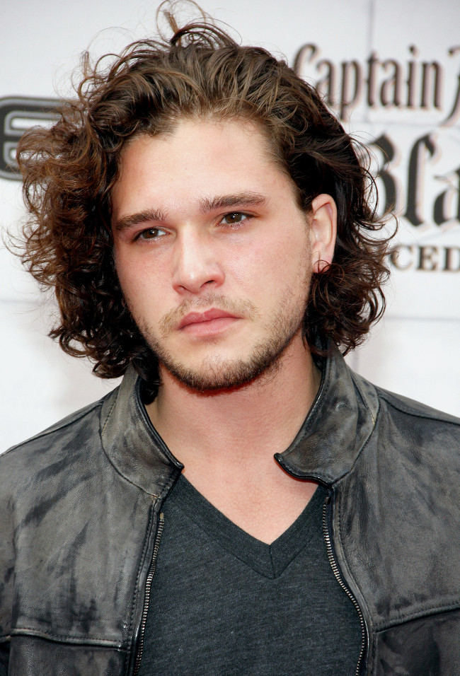 7ab50a9dfd3 Game of Thrones star Kit Harington is a prime example of long curly hair  done right. Image credit  Starfrenzy Bigstock.com