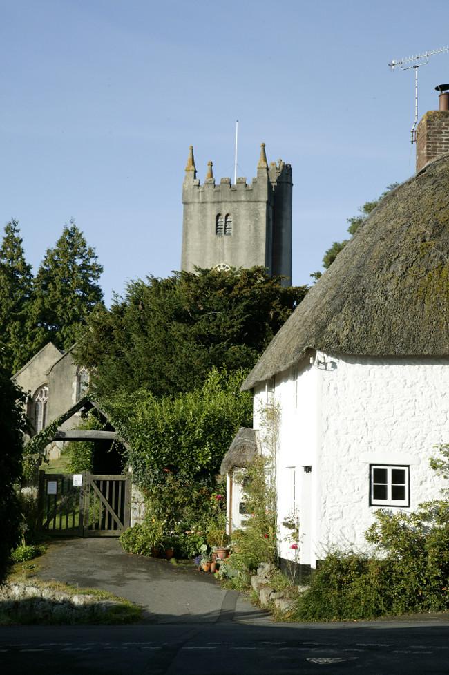 North Bovey village