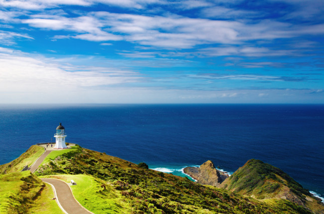 Cape Reinga Lighthouse north edge of New Zealand