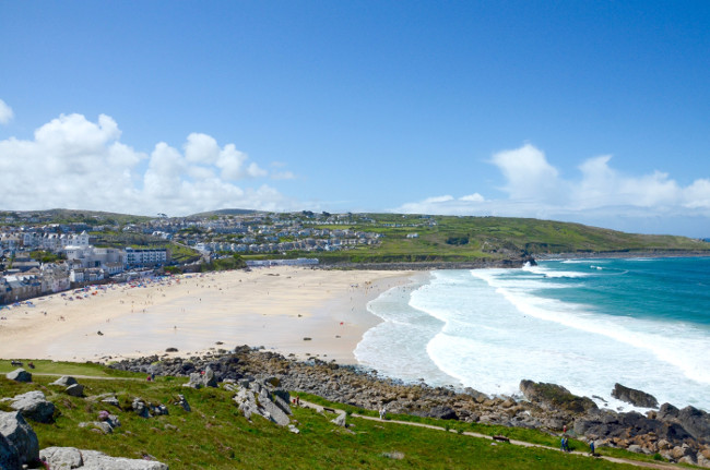 Overlooking St Ives bay in Cornwall, England