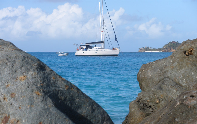 BVI sailboat rock gap necker island Gorda