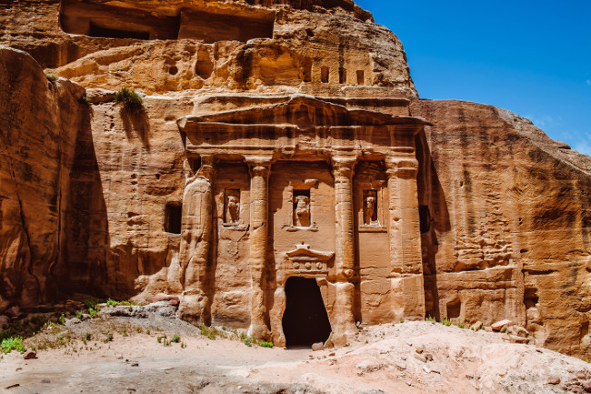 Petra, Jordan-- it is a symbol of Jordan, as well as Jordan's most-visited tourist attraction. Petra has been a UNESCO World Heritage Site since 1985