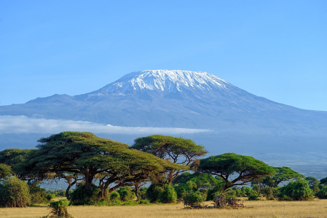Landscape of the Mount Kilimanjaro, Highest mountain  in Africa, located in Moshi, Tanzania