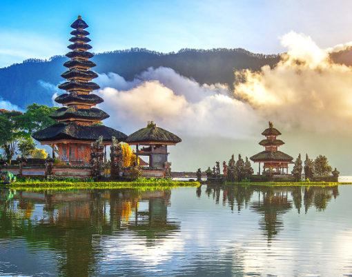 pura ulun danu bratan temple in Bali indonesia.