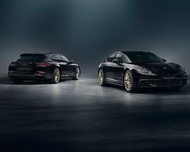 Porsche Panamera gets a gold certification with their 10-year edition