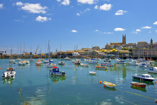 yachts in Penzance harbour, Cornwall, England