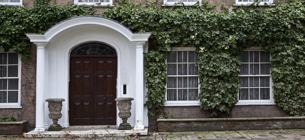 Entrance to Georgian house in England. London