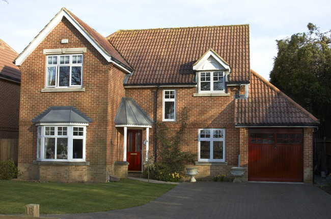 A detached house with garage in England