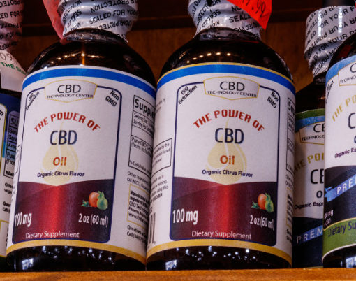 Indianapolis - Circa February 2019: CBD Technology Center products. The popularity of CBD oil as a medicinal product has skyrocketed VII