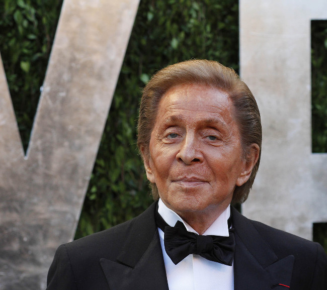 WEST HOLLYWOOD, CA - FEB 24: Valentino Garavani at the Vanity Fair Oscar Party at Sunset Tower on February 24, 2013 in West Hollywood, California