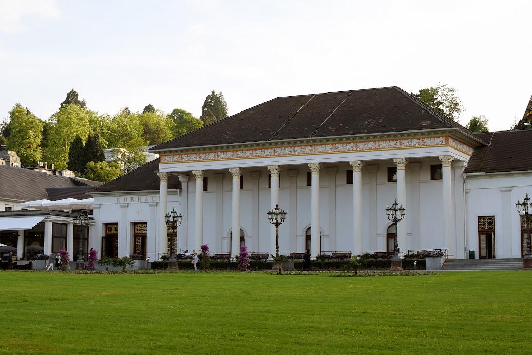 BADEN-BADEN, GERMANY - May 18, 2018: Kurhaus of Baden-Baden  is a spa resort, casino, and conference complex.