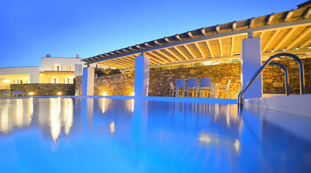 Where can you discover Greek island living in complete luxury?