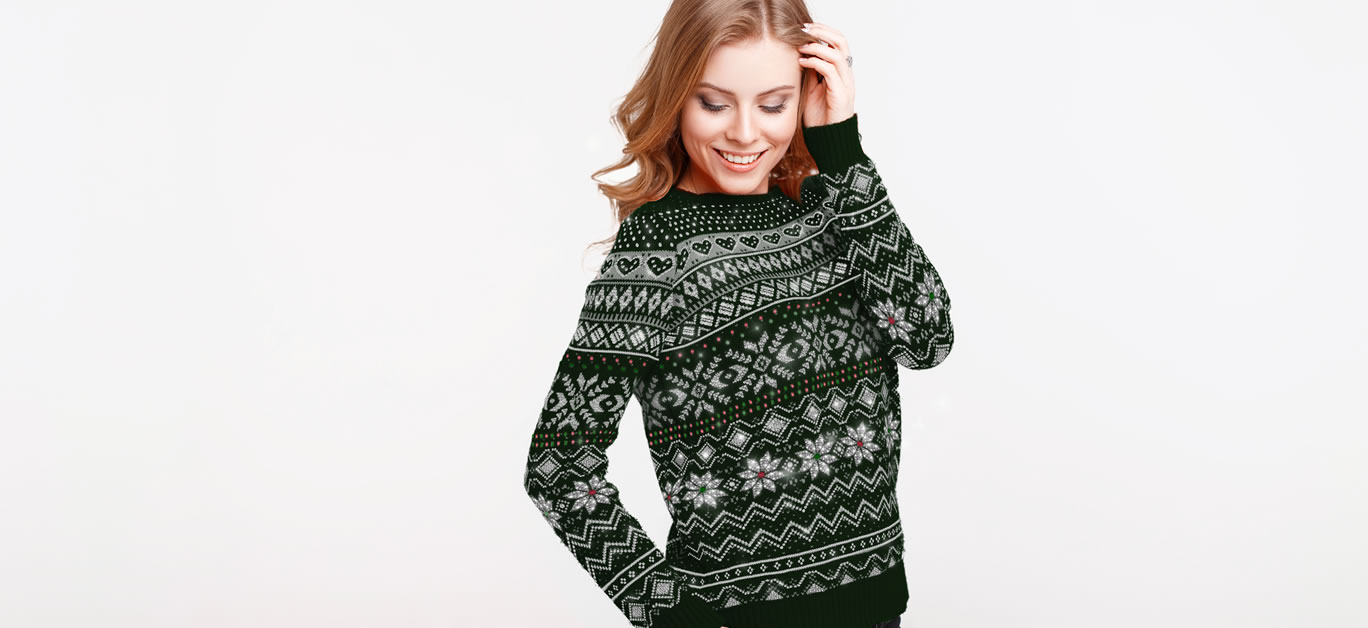 This is the world's first diamond-encrusted Christmas jumper