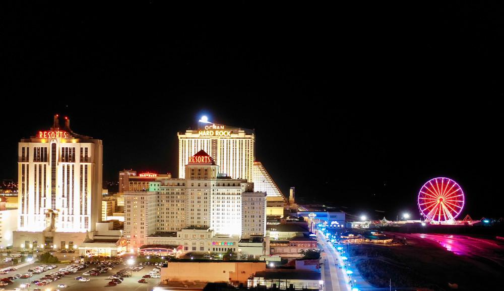 Atlantic City N.J/USA. Aerial view of Atlantic City