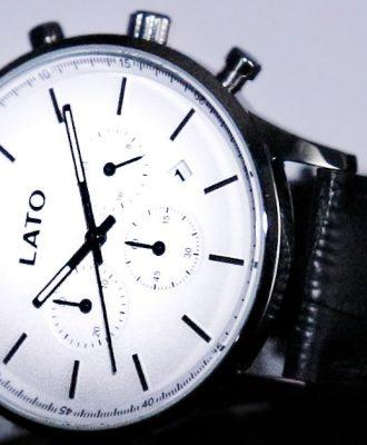 lato impero white chrono black leather