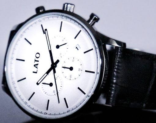 lato impero white chrono black leather