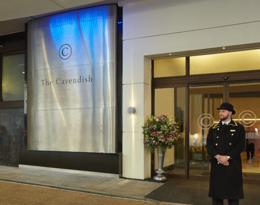 The Cavendish hotel entrance