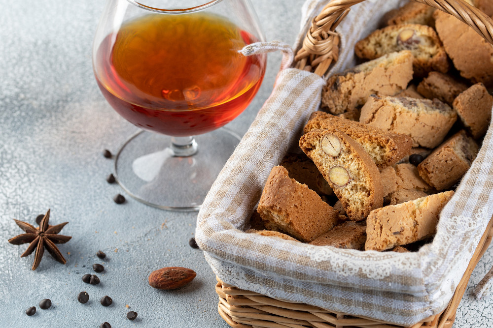 Traditional Italian Christmas New Year Dry Cookie Biscotti Cooki