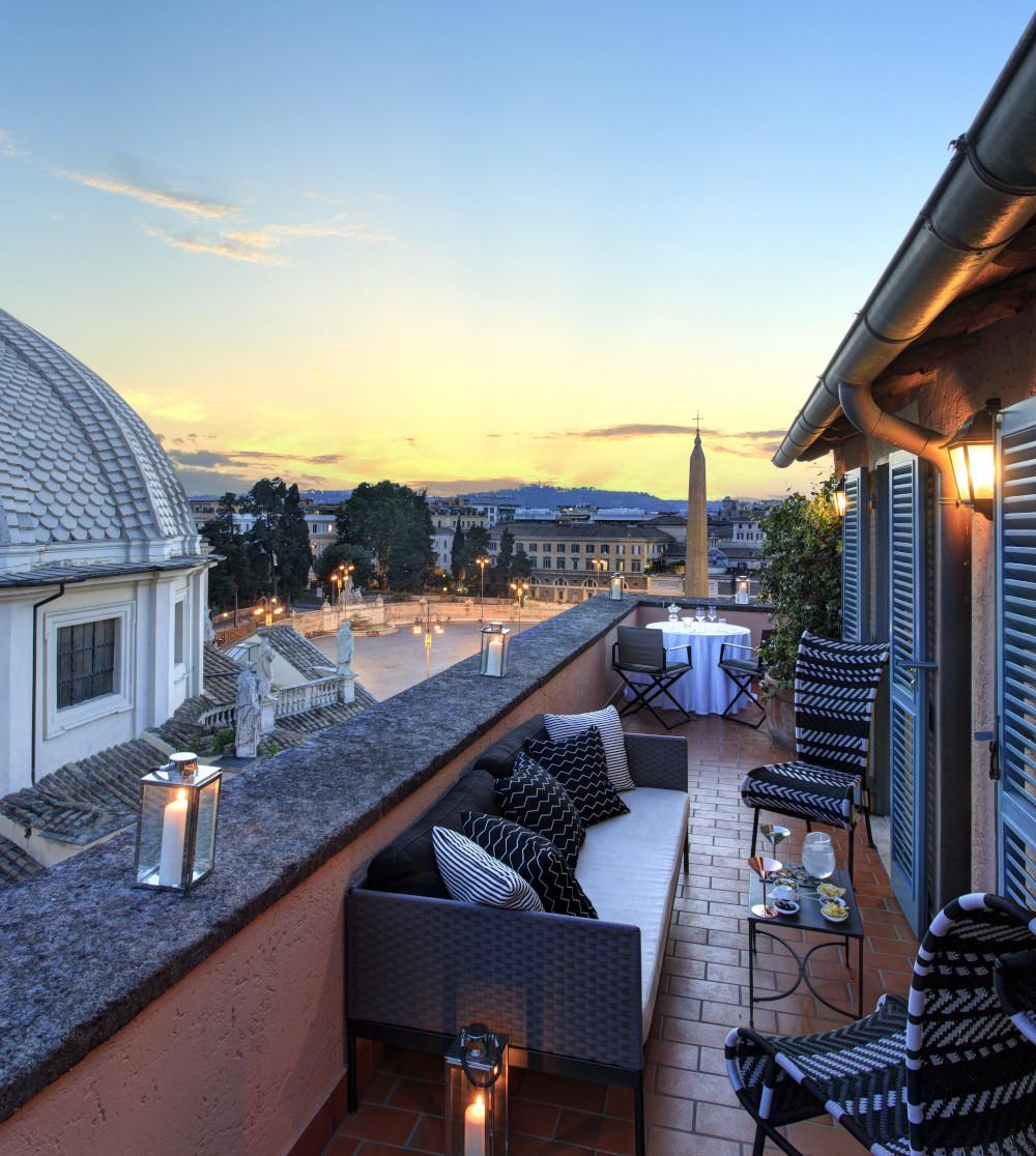 Hotel De Russie - View of Piazza del Popolo