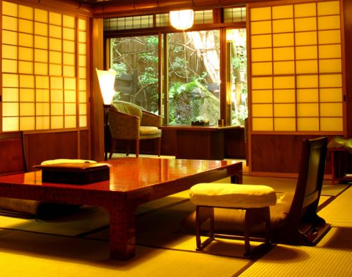Dining table at Hiiragiya