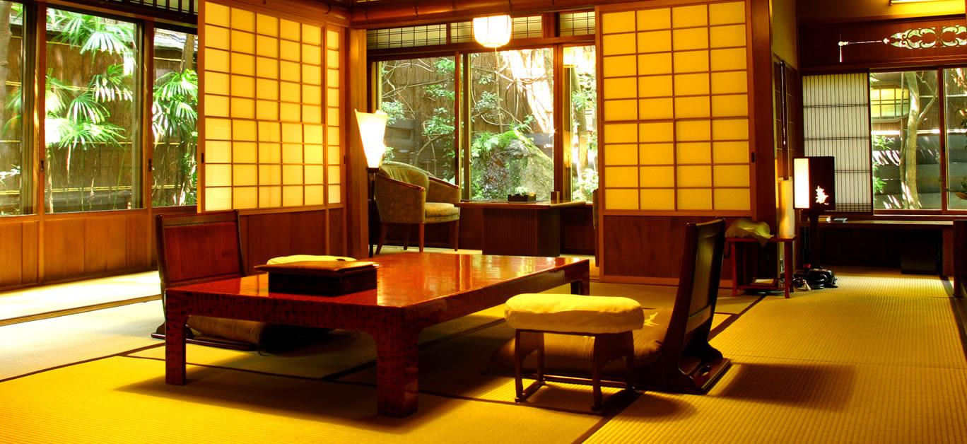 Dining table at Hiiragiya