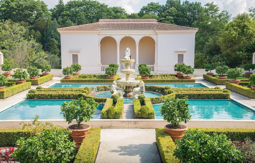 Hamilton, New Zealand - December 08 2017 : The beautiful Italian Renaissance Garden an iconic famous gardens in Hamilton gardens of New Zealand.