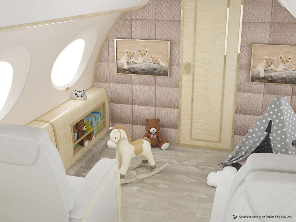 1 Nursery Jet G650 Toy Section
