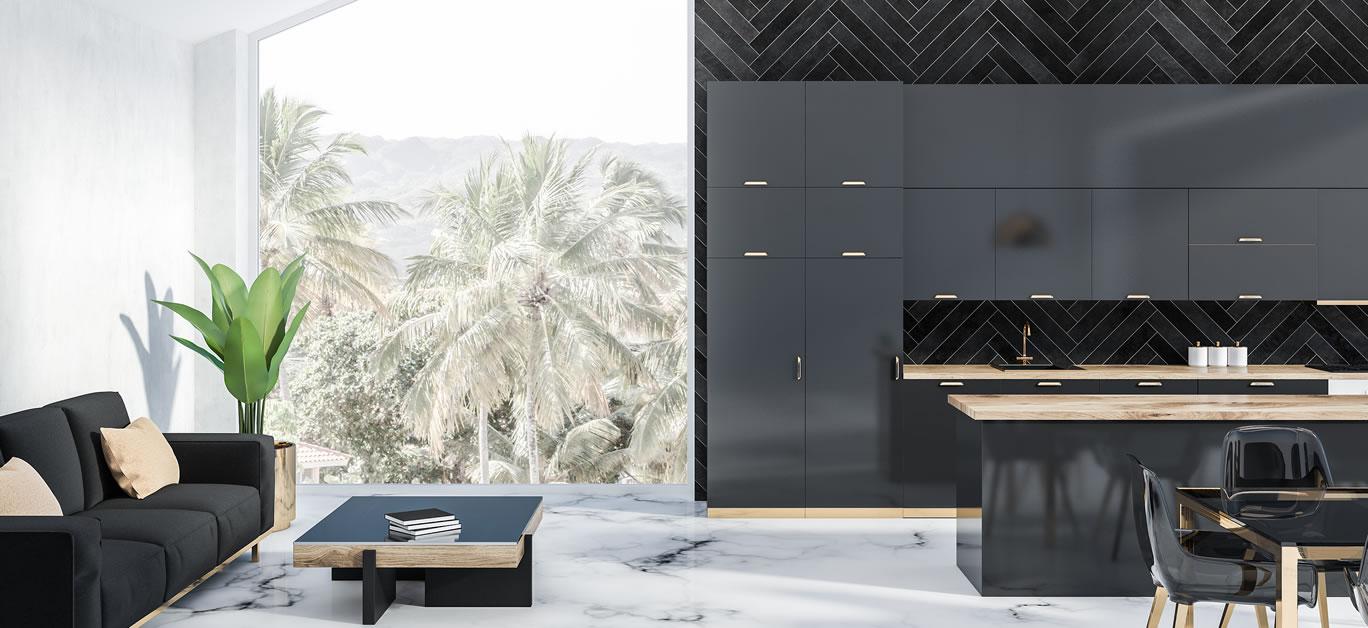 bigstock-Attic-Kitchen-Interior-With-Bl-260667955