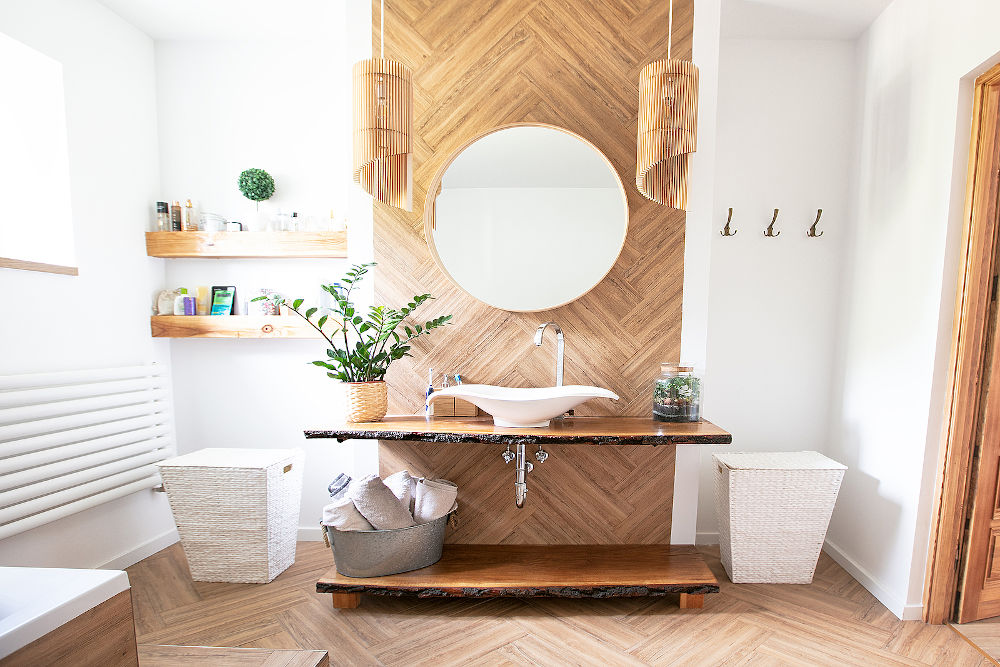 sustainable bathroom interior