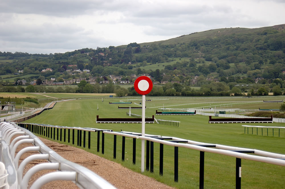 finishing line at cheltenham race course