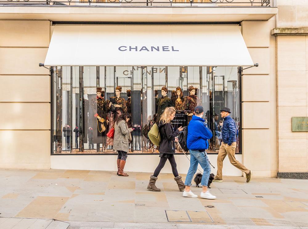 chanel shopfront london
